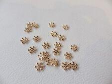 30 X pálido Rose Gold Metal Plateado espaciador granos: medio Daisy Flor 6.75 Mm Diam.
