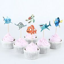 24 Pcs, finding nemo Cupcake Toppers Kids Birthday Party Supplies.