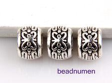 40pcs Zinc alloy nice round charms big hole beads(3.5mm)