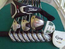 Titleist Cleveland Irons Driver Wood Hybrid Mens Complete Golf Club Set R.H.****