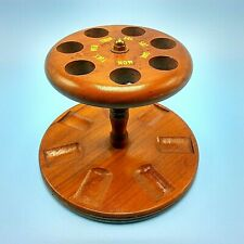 Wooden Pipe Rack 7 Days Of The Week Stand Felt Bottom Tobacco Pipe Holder