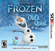 Disney Frozen: Olaf's Quest (Nintendo 3DS, 2013) BRAND NEW & SEALED