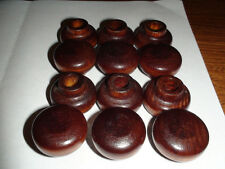 Lot Of 50 Small Wood Knobs Cabinet Drawer Walnut Stained Old New Stock