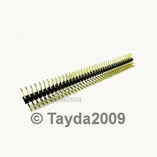 3 PCS 2x40 Pin 2.54 mm Right Angle Double Row Pin Header - FREE SHIPPING