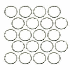 (20) Sterling Silver Plated Open Jump Rings 10mm Diameter 18 Gauge Wire Jewelry