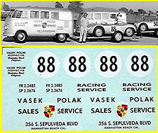 VW Transporter T1 Racing Service Vasek Polak - 1:43 Decal Abziehbild