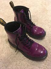 DOC MARTENS 1460 Boots Patent Leather Purple Men's Size 4 Women's Size 5
