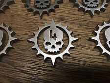 WarHammer Objective Markers - Spike Skull - Stainless Steel - 30mm