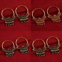 Bollywood Designer Hoop Goldplated Earring Traditional Indian Fashion Jewelry