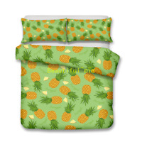 Green Pineapple Single/Double/Queen/King Size Bed Quilt/Doona/Duvet Cover Set