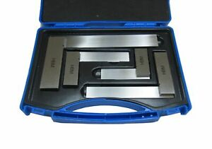 """RDGTOOLS ENGINEERS 4PC SQUARE SET 2"""", 3"""", 4"""", 6"""" BOXED HIGH QUALITY MEASURING"""
