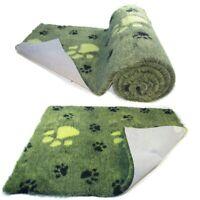 Lime Green  Large BlackPaw  High Grade Vet Bedding Non-Slip back Bed Fleece for