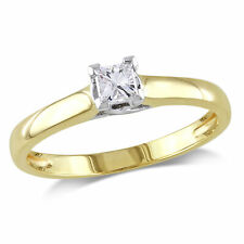 Amour 14k Gold Diamond Solitaire Engagement Ring