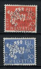 Svizzera 1961 SG # 653-4 Europa usati Set #A 69991