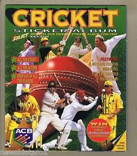 #T5. SELECT ACB  1996-1997 SEASON CRICKET STICKER BOOK, COMPLETE
