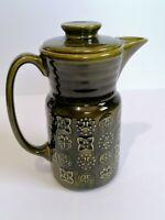Lord Nelson Moss Green Tall Coffee Pot Retro Kitchenalia Pottery