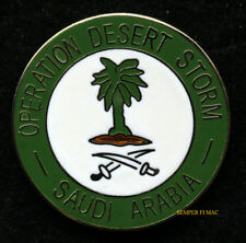 OPERATION DESERT STORM SAUDI ARABIA LAPEL HAT PIN US ARMY MARINES NAVY AIR FORCE