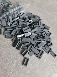 Lego 3069 Fliese 1x2 fliese  100 Stück in Neu Dunkel Grau / Dark bluish Gray NEU