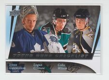 (64289) 2009-10 UPPER DECK YOUNG GUNS CHECKLIST #500  GUSTAVSSON-COUTURE-WILSON