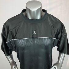 Jordan 23 Spellout Jumpman Mens XXL Black 3/4 Mesh Crew Neck Shirt EUC