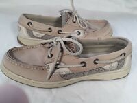 WOMENS SPERRY TOP SIDER BLUEFISH LINEN/OAT BOAT SHOES 9276619 SIZE 6M