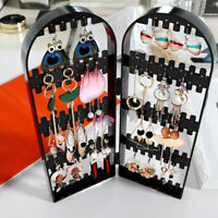 Foldable Jewelry Necklace Earring Stand Holder Plastic Organizer Display Rack