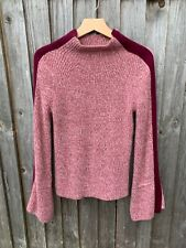Naadam cashmere ribbed crop jumper size S oversized sleeves