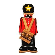 ID 8072 Drummer Boy Toy Soldier Figure Doll Embroidered Iron On Applique Patch