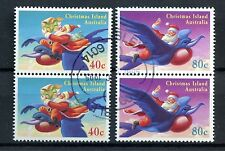 Christmas Islands 1995 SG#404, 6, 40c, 80c Cto Used Pairs Cat £6.20 #A50147
