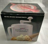 Donvier Premier Ice Cream Maker 1 Quart Hand Crank Ice Cream Freezer Red In Box