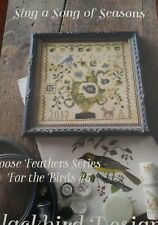 SING A SONG CROSS STITCH CHART BLACKBIRD DESIGNS, LOOSE FEATHERS #5