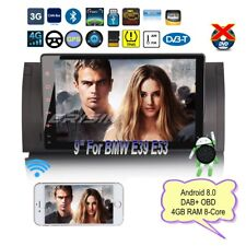 """Android 8.0 DAB+BMW E53 Autoradio E39 5er X5 M5 GPS Navigatore Bluetooth 9""""7802I"""
