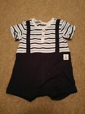 Baby Boy H&M Romper Playsuit Blue Stripped 0-1 Month
