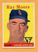1958 Topps Baseball Card #249 Ray Moore -- White Sox (VG-EX)