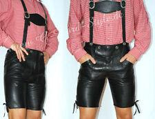 Gay 'le breve Lederhose Trachten Lederhose Boy Scout Spank Leather cuir * talla 46*037