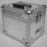 "2 X NEO Aluminum Silver Storage for 100 Vinyl Records 7"" Singles DJ carry Case"