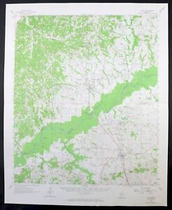 Flora Tinsley Bentonia Mississippi Vintage USGS Topo Map 1962 Topographical