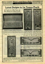 1929 PAPER AD 3 PG La Tausca Pearls Costume Jewelry Nacklace Choker