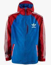 Adidas Three Stripe Snowboard Jacket (L) Blue Bird / Power Red