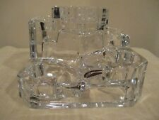 PartyLite Ice Crystal Clear Castle Multi-Tier Tealight 5 Candle Holder P7170