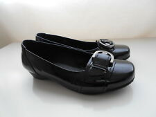 Hotter Darcey black patent leather shoes Size 4 STD UK 37 EUR