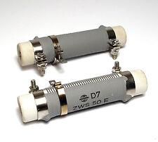 2x Draht-Widerstand 5.1 Ohm mit Abgriff-Schelle, 50 Watt, Typ ZWS 50 E