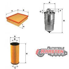 Set M: Kraftstofffilter+Luftfilter+Ölfilter Filtersatz AUDI SKODA VW