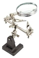 Handsfree Magnifier with 2 Adjustable Angle Clips Third Hand Design Jewelerry