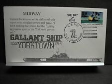 USS YORKTOWN CV-5 Naval Cover 1992 HALL MIDWAY Cachet