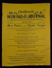 Vintage CALIFORNIA MINING JOURNAL - January 1971 Prospecting Gold Panning Tax