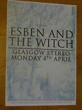 Esben And The Witch - Glasgow april 2011 tour concert gig poster