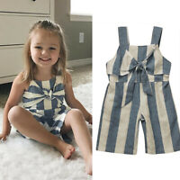 Toddler Kids Baby Girls Jumpsuit Romper Bodysuit Playsuit Clothes Outfits Set