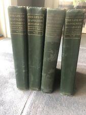 The Life Of Napoleon Bonaparte 4 Vol. Set By John S.C. Abbott (1883, HC)