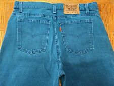 LEVIS 550 ORANGE TAB RED TAG VINTAGE USA TEAL JEANS SZ 35x32 Tag 36x32 BEST A51